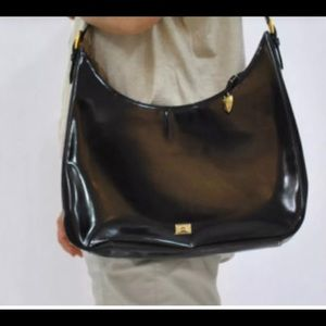 Authentic Vintage Moschino Leather Large Hobo